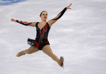 Slovakia's Nicole Rajicova competes during the Figure Skating Women's free skating Program at the Sochi 2014 Winter Olympics