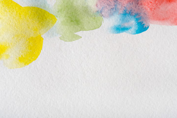 Abstract watercolor spots painted texture background