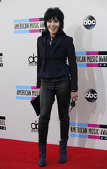 Musician Joan Jett arrives at the 41st American Music Awards in Los Angeles