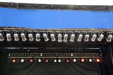 Outdoor festival lighting.