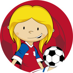 Cartoon Soccer - Football Player