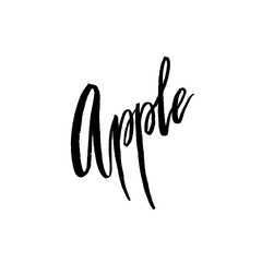 Apple postcard lettering