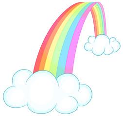 Regenbogen mit Wolken Vektor Illustration