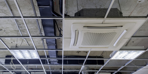 pipeline control Ceiling systems with hidden ceiling of squares