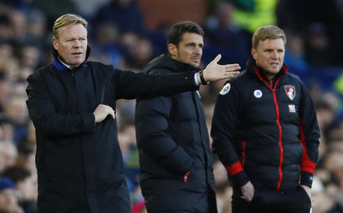 Everton manager Ronald Koeman and Bournemouth manager Eddie Howe
