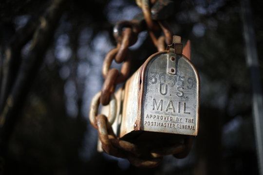 A mailbox for United States Postal Service and other mail is seen outside a home in Malibu