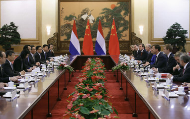 Chinese Premier Li attends a bilateral meeting with Netherlands' Prime Minister Rutte in Beijing