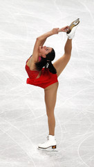 Lafuente of Spain performs during her women's short programme at the European Figure Skating Championships in Sheffield