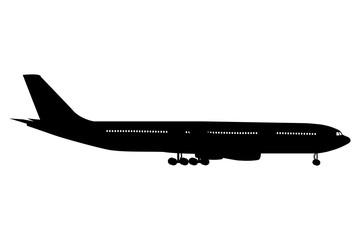 Airplane icon, vector illustration.