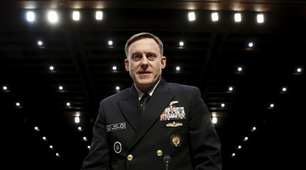 US Navy Admiral Rogers testifies on Capitol Hill in Washington