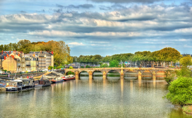 Pont de Verdun, a bridge across the Maine in Angers, France
