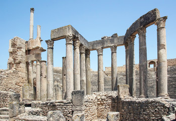 Roman Theatre in Dougga - the former capital of Numidia