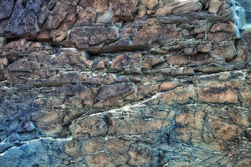 Multi-colored texture of natural stone