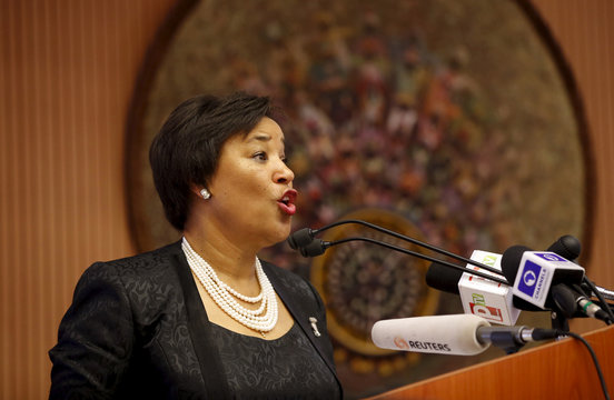 Patricia Scotland, Secretary-General Designate of the commonwealth, speaks during the opening session of a Public Lecture on Nigeria and the commonwealth of Nations in Abuja