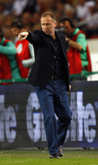 Brazil's coach Menezes reacts during their friendly soccer match against Germany in Stuttgart