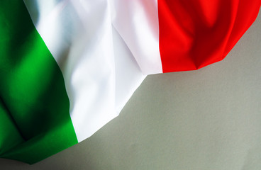 Italy flag and space for text