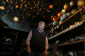 Italian collector Domenico Agostinelli poses in his museum in Dragona