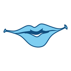 smile lips gesture vector icon illustration graphic design