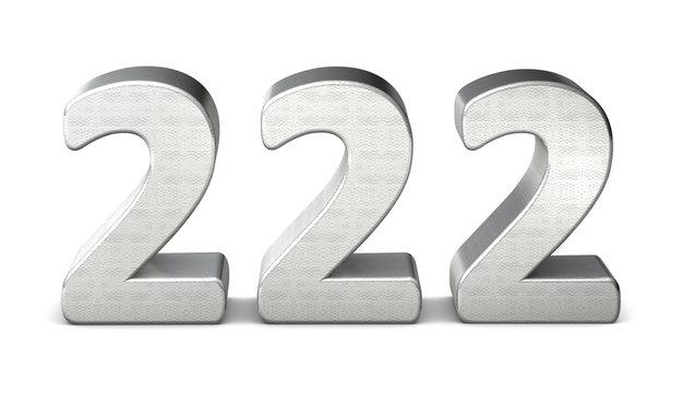 222 zahl silber 3d number silver struktur