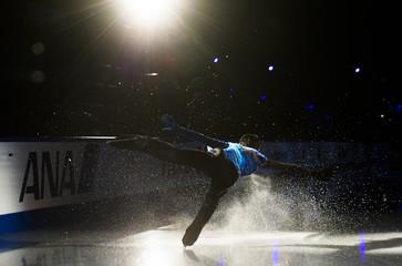 Hanyu of Japan performs during the Skate Canada International figure skating exhibition gala in Saint John