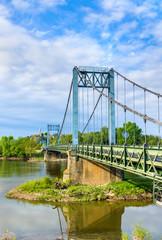Bridge across the Loire at Gennes, France