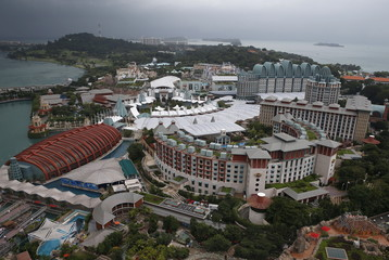 A view of Genting Singapore's Resorts World Sentosa casino and hotel in Singapore