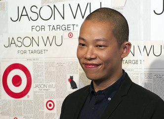"Designer Wu poses for photos as he and Target unveil a ""Limited-Edition Apparel and Handbag Collection"" in New York"
