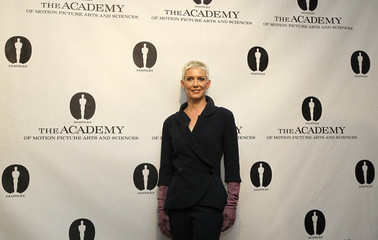 Kelly, film historian and widow of Gene Kelly, poses at Academy's reception at the Academy of Motion Picture Arts & Sciences in Beverly Hills