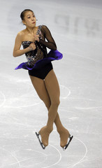 Kwak Min-Jeong of South Korea performs in the ladies free skate during Skate America figure skating competition in Portland