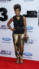 Actress Angela Bassett arrives at the 2013 BET Awards in Los Angeles