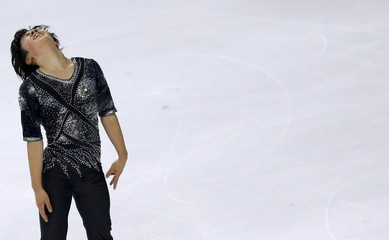 Japan's Uno competes during the Men short program at the ISU Bompard Trophy Figure Skating competition in Bordeaux