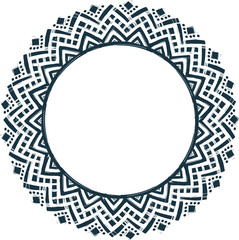 Ethnic tribal style vector hand drawn doodle frame