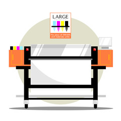 Large plotter printer