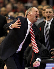 Ohio State head coach Matta reacts to a call during the second half of their NCAA game against Michigan State in Columbus