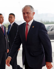 Australian Prime Minister Malcolm Turnbull arrives to attend the G20 Summit in Hangzhou