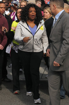 """Winfrey takes part in her charity walk called, """"Live Your Best Life Walk"""" in New York"""