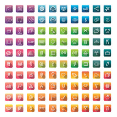 User interface vector icons mixed set collection