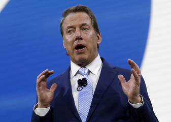 """Ford executive chairman William Clay """"Bill"""" Ford speaks during the North American International Auto Show in Detroit"""