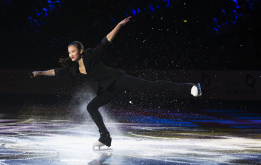 Christina Gao of the U.S. performs during the Skate Canada International figure skating exhibition gala in Saint John, New Brunswick