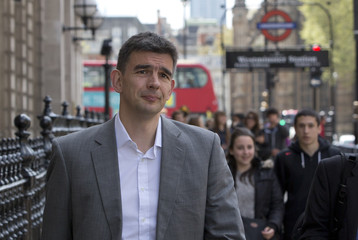 Google's Northern Europe boss Matt Brittin leaves a British parliamentary Public Accounts Committee inquiry into tax avoidance at Portcullis House in London