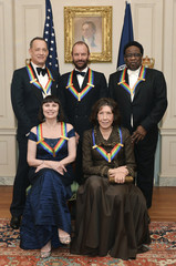 2014 Kennedy Center Honorees gather for a group photo after a gala dinner at the US State Department in Washington