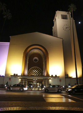 """Exterior of Union Station, where the experimental opera by the L.A. Dance Project titled """"Invisible Cities"""" is presented is pictured in California"""