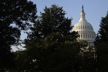 The sun rises on the U.S. Capitol in Washington