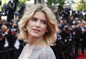 """Actress Alice Taglioni poses on the red carpet as she arrives for the opening ceremony and the screening of the film """"Grace of Monaco"""" out of competition during the 67th Cannes Film Festival in Cannes"""