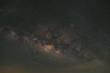 milky way galaxy at phitsanulok in thailand. Long exposure photograph.with grain