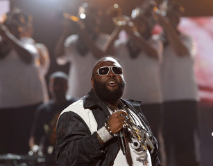 Rap artist Rick Ross performs at the 2010 BET Awards in Los Angeles