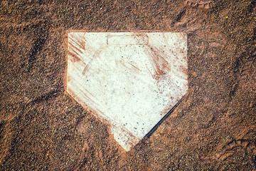 Home Plate in a Baseball Field