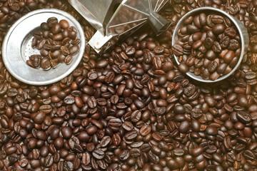 Hot coffee roasted