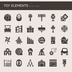 Toy Elements , Thin Line and Pixel Perfect Icons