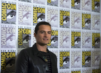 "Cast member Bloom poses at a press line for ""The Hobbit: The Battle of the Five Armies"" during the 2014 Comic-Con International Convention in San Diego"